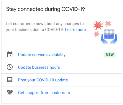 Google My Business COVID-19 Update